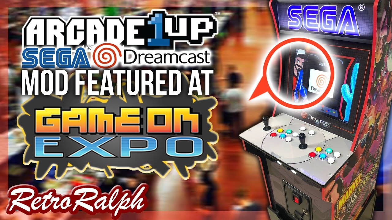 Arcade1up Dreamcast MOD - Featured at Game on Expo 2019 - Sneak Peak!