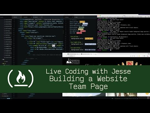 Building a Website: Team Page - Live Coding with Jesse