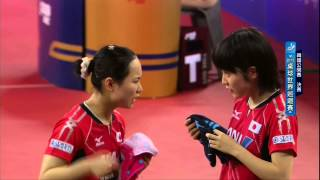 2015年韓國公開賽女子雙打冠軍決賽:伊藤美誠/平野美宇~佐藤仁美/隼太雛.