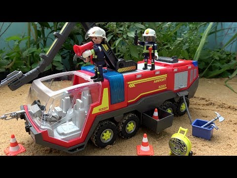 Fire Truck Assembly Toys Video for Children - Fire Engine with Lights and Sound Building Set