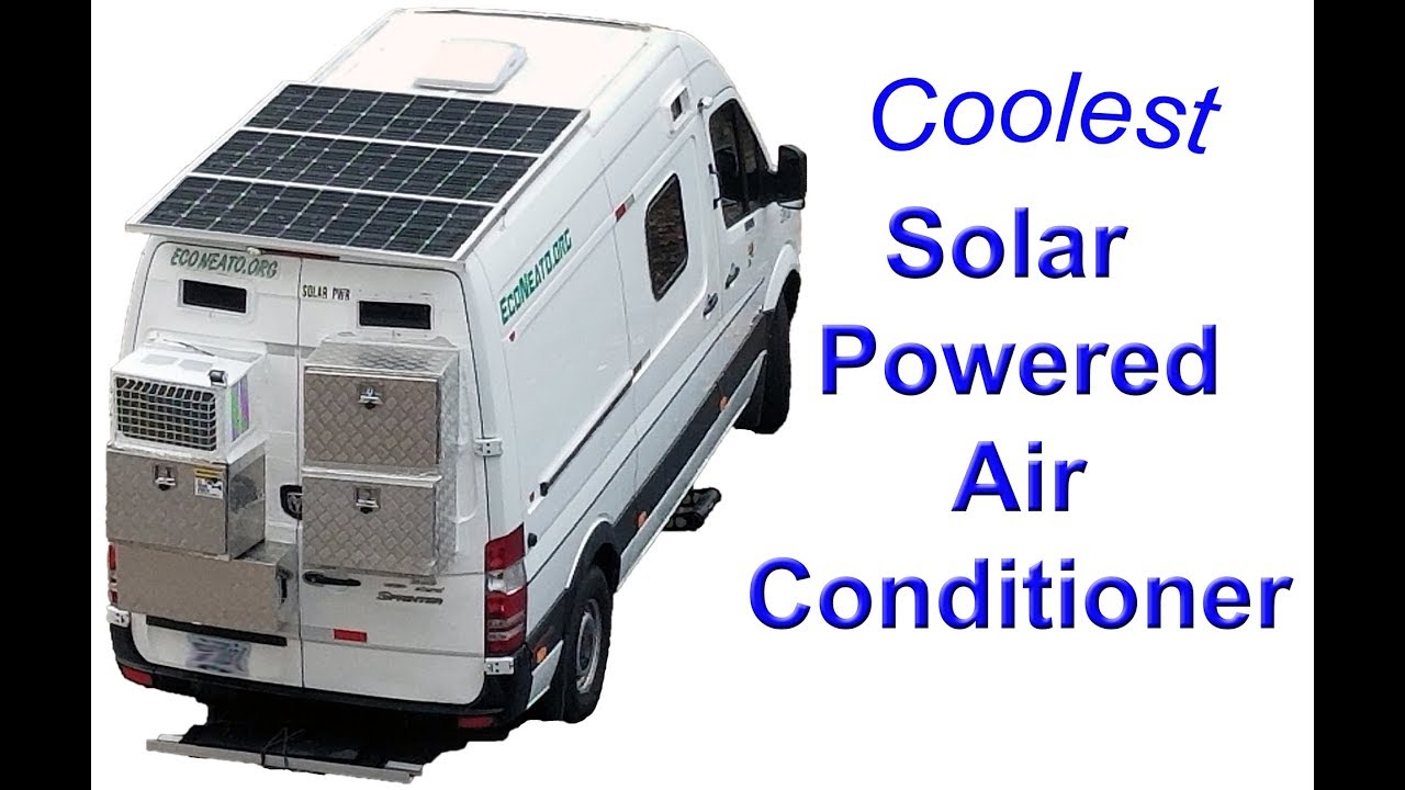Solar / Tesla Lithium Battery Powered Air Conditioner for Camper Vans / RVs  / Tiny Homes  Pet Safe