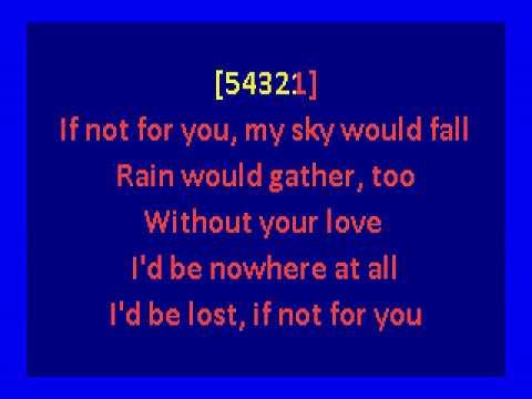 George Harrison -  If Not For You (karaoke)