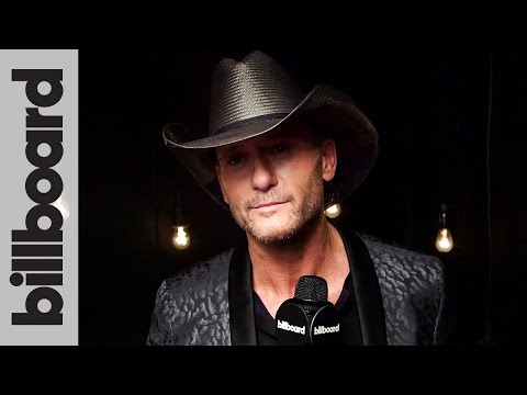 Backstage With Tim McGraw After His 2016 American Music Award Win! | Billboard
