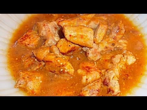 CHULETA de PUERCO en salsa de tomatillo receta- Complaciendo Paladares