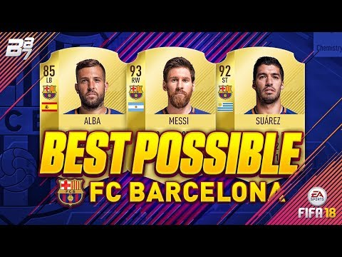 BEST POSSIBLE FC BARCELONA TEAM! w/ MESSI AND SUAREZ! | FIFA 18 ULTIMATE TEAM