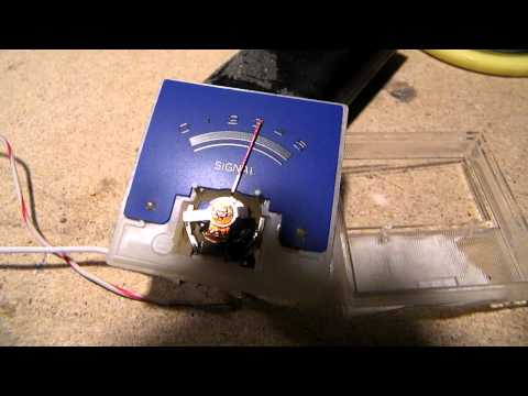 How to make a precision analog voltmeter (here: for a 12 volt car battery), pt 1