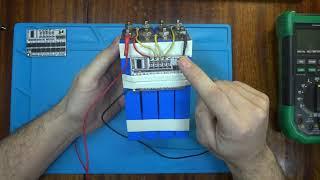 Тест BMS(Балансир)+LiFePo4 (Літій-залізо-фосфатний акумулятор)