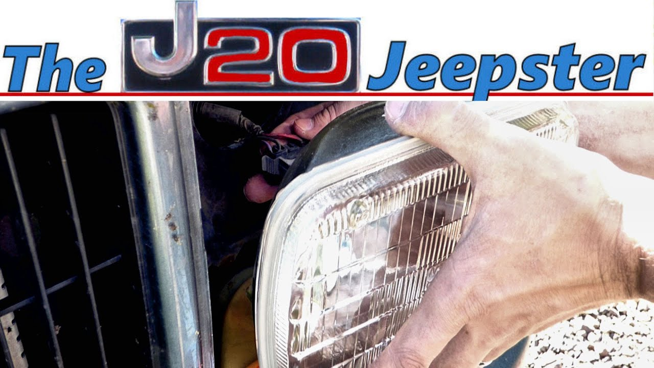 How To Replace The Headlight In A 99 Cherokee Classic Youtube 87 Wiring Diagram