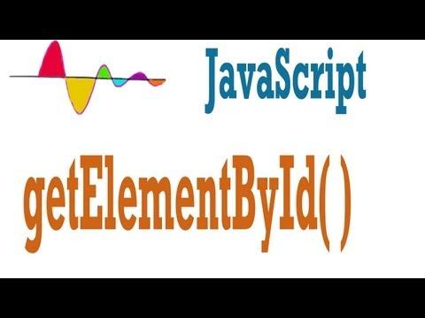 JavaScript Tutorial - document.getElementById