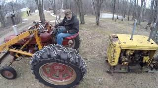 Farmall H and Super M Skidding Power Unit Engines - International UD18, McCormick Deering