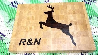 Monogrammed end grain cutting boards