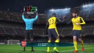 11 Minutes of PES 2017 Gameplay Barcelona vs. Arsenal - Gamescom 2016