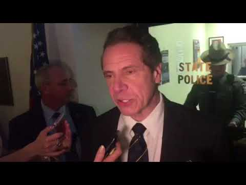 Mark Simone - Watch An Unhinged Crazy Woman Attack Governor Cuomo and Take a Swing at Him