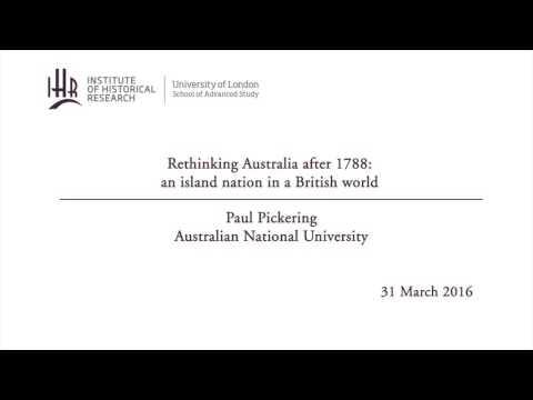 Rethinking Australia after 1788: an island nation in a British world