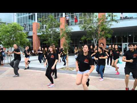 RebelFlash - School Spirit Flash Mob to Uptown Funk by Mark Ronson featuring Bruno Mars