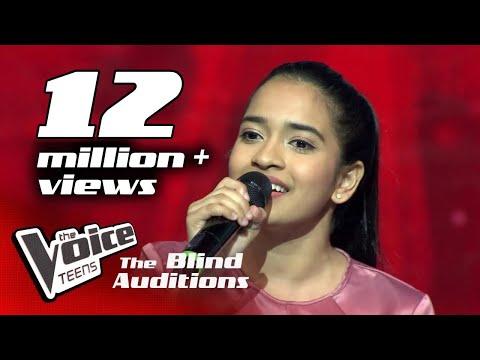 Adithya Waliwaththa   Nomile Dun Nisa(නොමිලේ දුන් නිසා)  Blind Auditions   The Voice Teens Sri Lanka