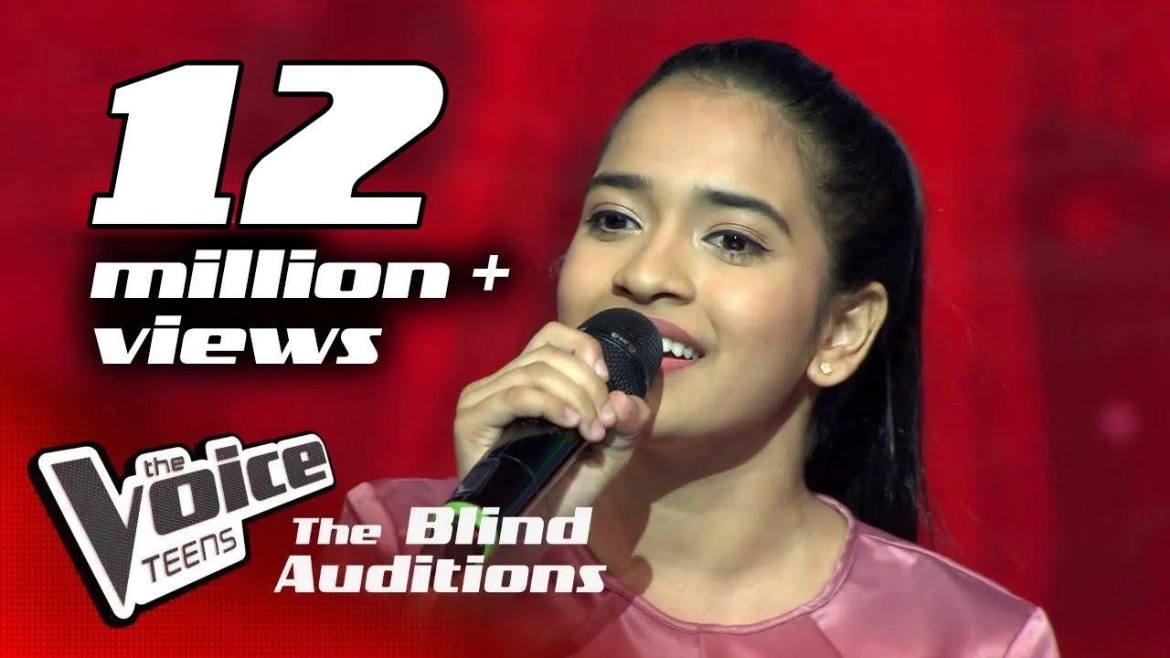 Download Adithya Weliwatta   Nomile Dun Nisa(නොමිලේ දුන් නිසා)  Blind Auditions   The Voice Teens Sri Lanka