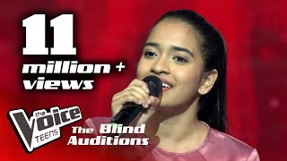 Adithya Waliwaththa | Nomile Dun Nisa(නොමිලේ දුන් නිසා)| Blind Auditions | The Voice Teens Sri Lanka