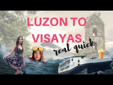 VLOG 1: LUZON TO VISAYAS REAL QUICK (Roadtrip) | Wonina Lily