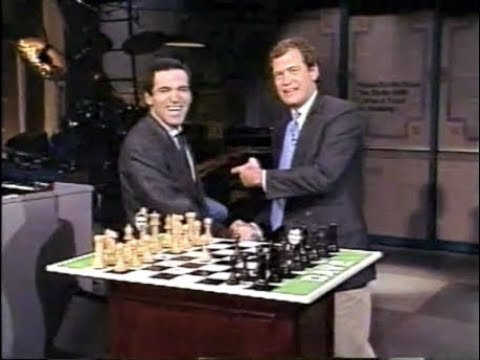 The Letterman v. Kasparov Chess Match on Late Night, Fall 1989