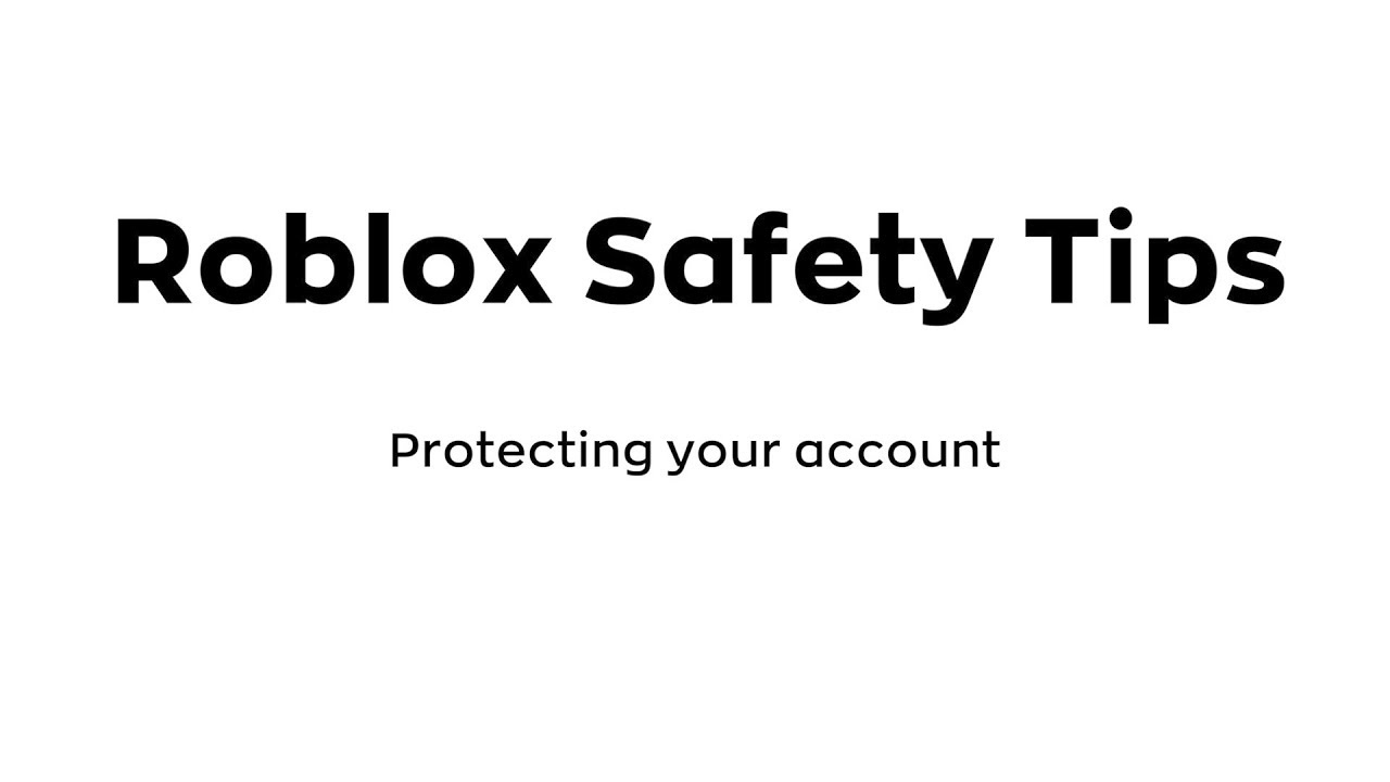 Roblox Safety Tip 1 Passwords Youtube