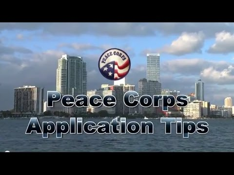 Peace Corps Application Tips