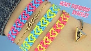 DIY Heart Friendship Bracelets