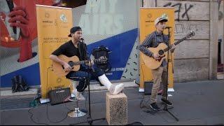 Ed Sheeran - Shape Of You MASHUP (STREET Improvisation Cover by Federico Baroni & Gabriele Espos