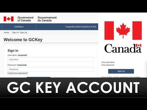 How To Create GC Key Account For Canada Visa