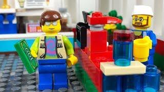 LEGO City Service Station Fail STOP MOTION LEGO City Sets Brick Film   LEGO City   By Billy Bricks