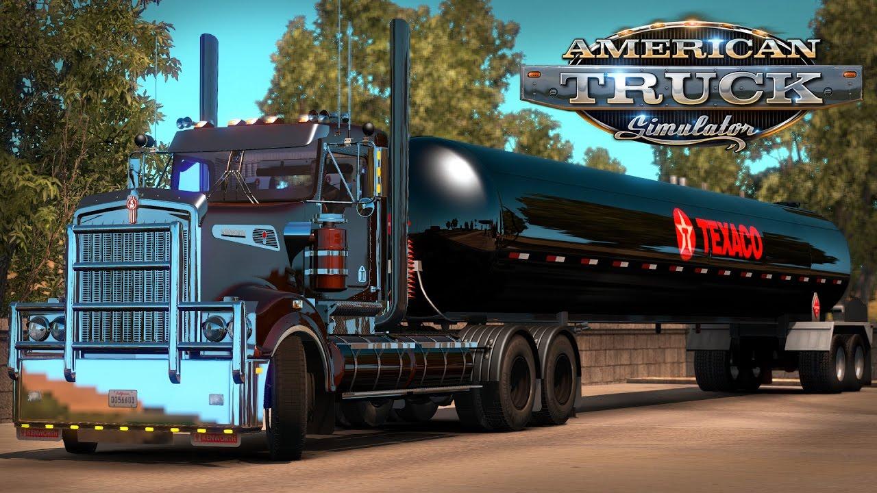 American Truck Simulator: Kenworth T908 - Texaco tanker - Fresno to Stockton