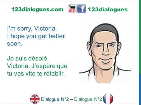 Dialogue 2 - English French Anglais Français - How are you? - Comment vas-tu? Comment ça va?