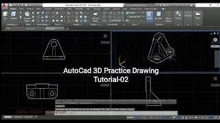 #3D Practice Drawing in AutoCAD | Tutorial-02 |