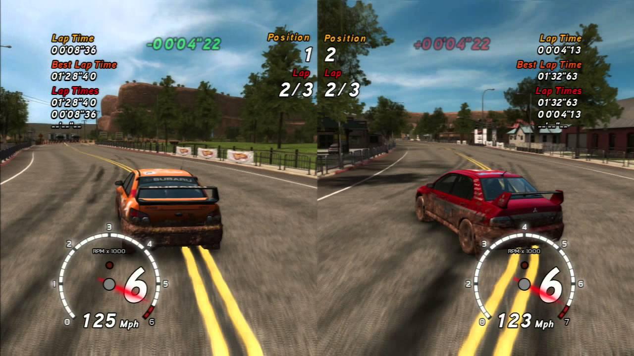 Sega Rally Revo Ps3 2 Player Split Screen Part 1 Canyon Premier