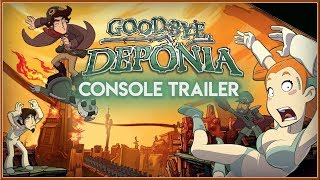 GOODBYE DEPONIA - New CONSOLE Announcement Trailer 2019 (PS4 & XB1) HD