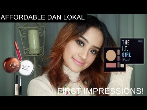 FIRST IMPRESSIONS OF AFFORDABLE & LOCAL BRAND MAKEUP  | Nadya Aqilla | Indonesia