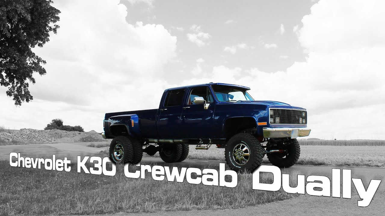 Lifted Truck | Chevrolet K30 Crewcab Dually - YouTube