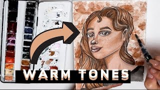 DRAWING FACE WITH WARM TONES | Nelli Orell ♡