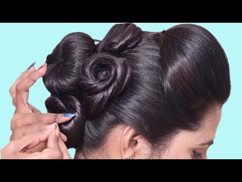 Wedding guest hairstyle in just 1 Minutes || Bun hairstyles for long hair || hair style girl