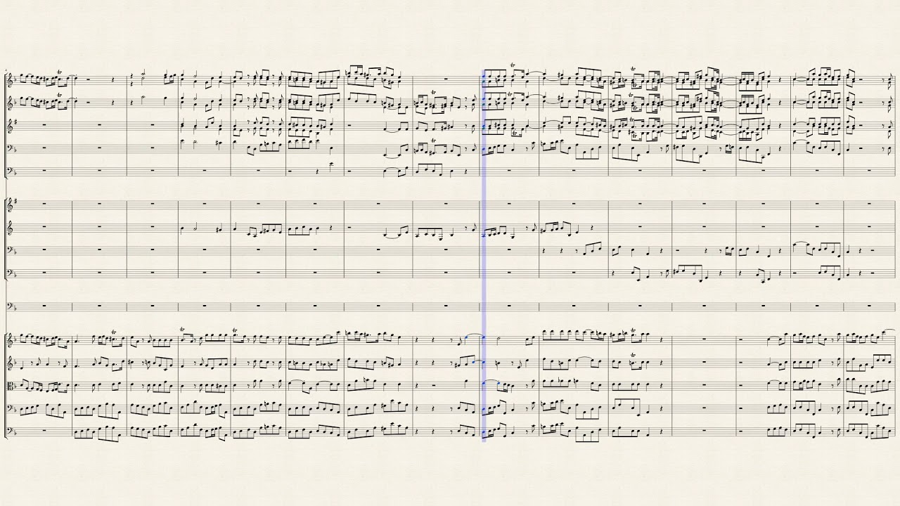 Minuet     (orch score) - No. 7 from Water Music Suite No. 1 in F - HWV348