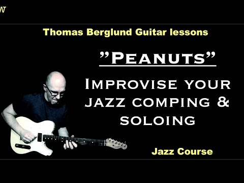 "Peanuts ""One key jazz tune"" - Jazz course - Jazz Guitar lesson"