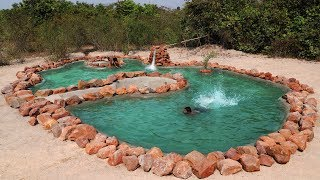 Build the Wonderful Giant Swimming pool By Natural Mountain Stone thumbnail
