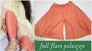 How to make pants for kurti || Palazzo Pants Tutorial in hindi