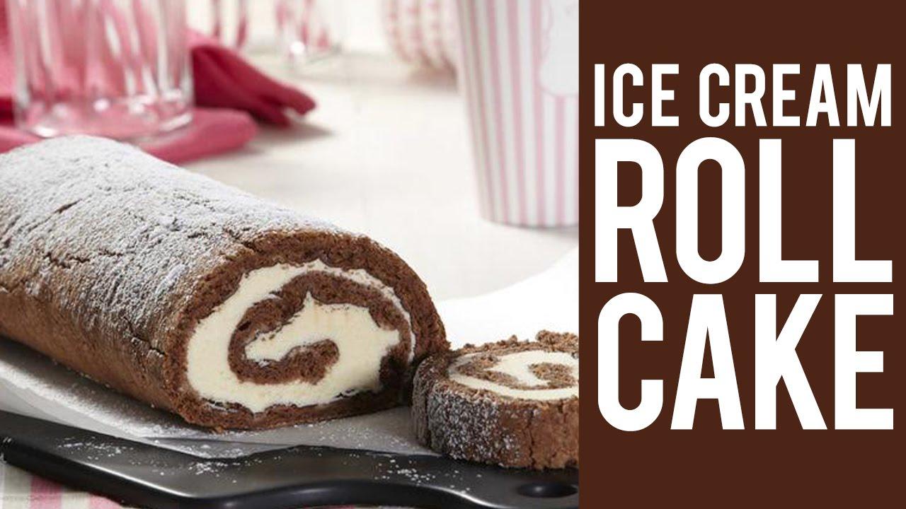 Chocolate ice cream roll cake recipe youtube ccuart Images