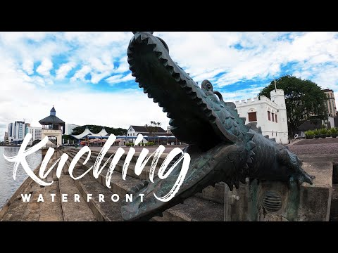 KUCHING WATERFRONT | DARUL HANA BRIDGE KUCHING SARAWAK 4K | CINEMATIC TRAVEL VIDEO