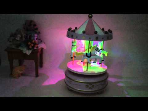 Lighted-Carousel Music Box