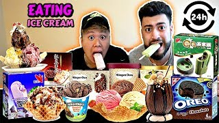I ONLY ATE ICE CREAM FOR 24 HOURS! (IMPOSSIBLE FOOD CHALLENGE, NEVER AGAIN)
