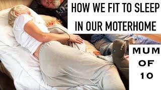 MOMOF10/WHERE WE SLEEP IN OUR MOTORHOME