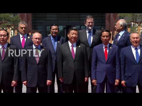 China: Putin and Xi Jinping pose for Belt and Road Forum group photo