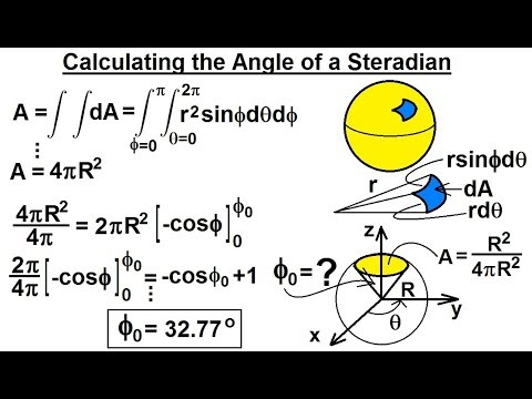 Calculus 3: Triple Integrals (17 of 25) Calculate the Angle of a Steradian